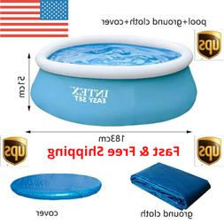 Intex 6 ftx20in Easy Set family inflatable pool above ground