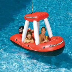 """60"""" Fire Boat Inflatable Ride-On Swimming Pool Float Water S"""