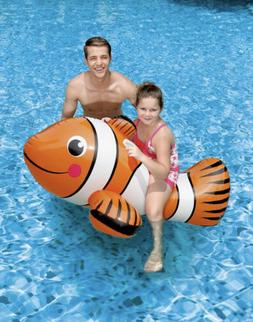 "Blue Wave 67"" Clown Fish Inflatable Ride-On Pool Float"