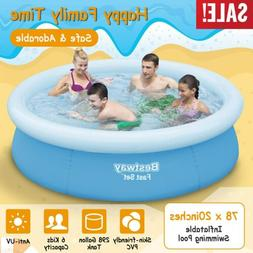 78''x20'' Easy Set Above Ground Inflatable Kids Family Water