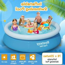 78''x20'' Inflatable Easy Set Above Ground Kids Family Water