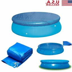 8/10/12/15ft Round Swimming Pool Cover Inflatable Keep Clean