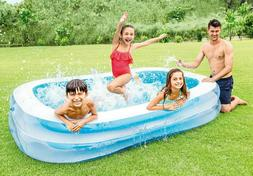 Intex 8.5ft x 5.75ft x 22in 198 Gallon Inflatable Family Swi