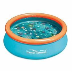 Summer Waves Small 8 Inflatable Pool with Aquatic Floor Patt