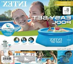 """Intex 8' x 30"""" Easy Set Round Inflatable Above Ground Pool W"""