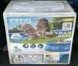 Intex 8ft X 30in Easy Set Above Ground Pool with Cartridge F