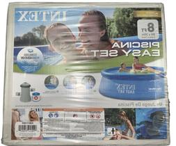 INTEX 8ft x 30in Easy Set Above Ground Pool WITH Filter Pump