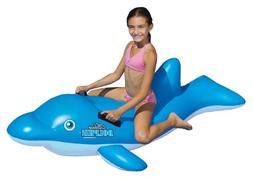 Swimline 90453 Swimming Pool Inflatable Dolphin Stable Ride-