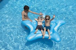 Swimline 90538 Inflatable Ride On Blue Starfish Float Raft M
