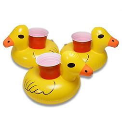 GoFloats Inflatable Duck Drink Holder , Float your drinks in