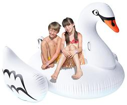 """Greenco Giant Inflatable Swan Pool Float Lounger, 75"""""""