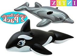 Intex Pool Floats Dolphin Ride-On & Whale Ride-On Gift Set B