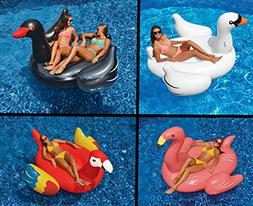 Swimline Giant White Swan/Flamingo/Black Swan/Parrot Floats