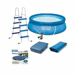 Intex Above Ground Swimming Pool, Ladder with Pump and 15'