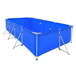 Festnight Above Ground Swimming Pool Rectangular, with Steel