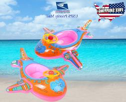 Airplane baby kids inflatable floats Raft Tube Ring Summer P