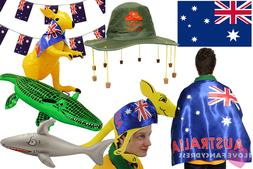 AUSTRALIA DAY PARTY FANCY DRESS HAT FLAG BUNTING INFLATABLES