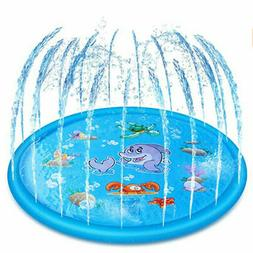 "Baby Kids 68"" Inflatable Spray Splash Water Mat  Pad Outdoor"