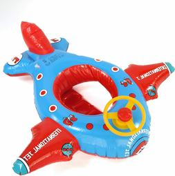baby pool float rocket airplane with wheel