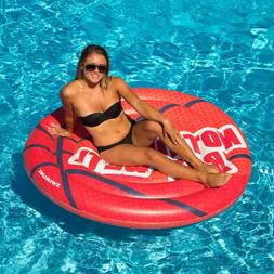 Swimline Basketball Island Pool Inflatable Ride-On, Red