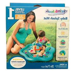 SwimSchool Baby Splash Mat with Backrest , Extra-Wide Inflat