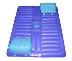 "77"" Blue Inflatable Face-to-Face Swimming Pool Lounger with"