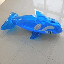 BLUE WHALE inflatable pool float ride-on toy