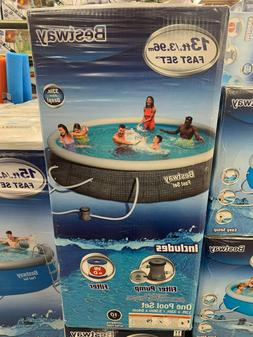 """BRAND NEW BESTWAY FAST SET ABOVE GROUND POOL 13' x 33"""" WITH"""