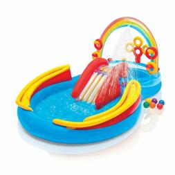 BRAND NEW INTEX Rainbow Ring Play Center Kids Inflatable Poo
