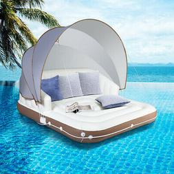 Canopy Island Inflatable Pool Float Lounge Swimming Raft Lou