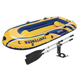 Intex Challenger 3 Inflatable Raft Boat Set With Pump And Oa