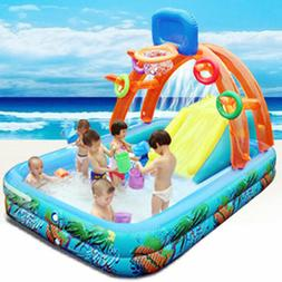 Fun Lawn Water Slides Inflatables Pools Children Kids Summer