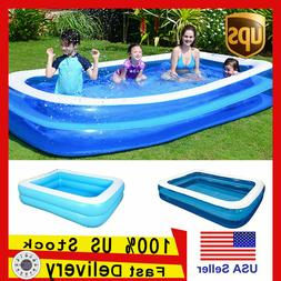 Children Inflatable Swimming Pool Lounge Family Summer Outdo