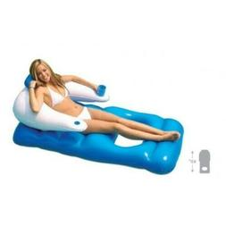 Classic Inflatable Floating Pool Lounger Lounge Chair Adult