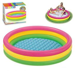 Outdoor Kiddie Inflatable Swimming Pool for Kids Colorful Du