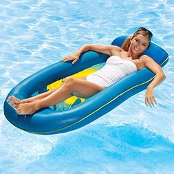 Aqua Comfort Water Lounge with Headrest & Footrest, Inflatab