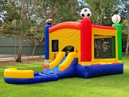 Commercial Inflatable Bounce House Sports Wet Dry Slide + Po