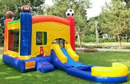 Commercial Inflatable Combo Sports Bounce House Wet Dry Slid