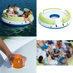 coolerz lazy dayz 6 person inflatable floating
