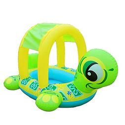 Uleade Cute Baby Float Seat Sunshade Car Inflatable Turtle P