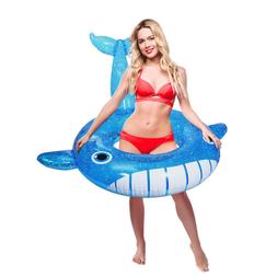 IBASETOY Cute Large inflatable Whale Pool Float Floatie Ride