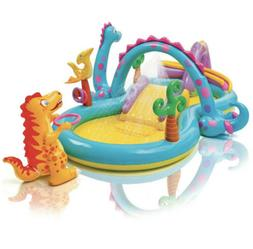 dinoland dinosaur inflatable swim play center kiddie