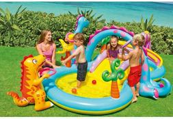 Intex Dinoland Inflatable Play Center, 131in X 90in X 44in