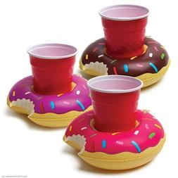 Donut Beverage Boats - Inflatable Floating Cup Holders - 3 p
