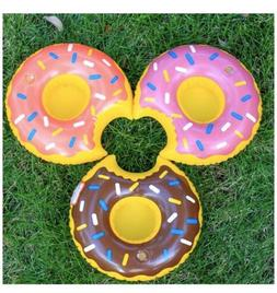 Donuts 3 PCS Inflatable Float Drink Can Cup Holder Hot Tub S