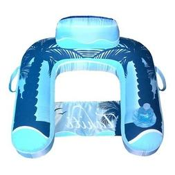Blue Wave Drift + Escape U-Seat Inflatable Lounger, Blue
