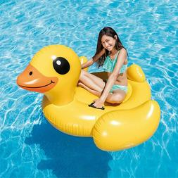 Duck Inflatable Ride-On Play Swimming Pool Float Raft Lounge