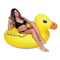 GoFloats Inflatable Rubber Duck Pool Float Party Tube, Float