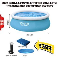 INTEX Easy Set 183cmx51cm Inflatable Round Pool FREE Air Pum