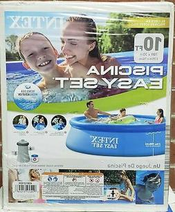 "Intex Easy Set 10' X 30"" Swimming Pool with Filter Pump & Se"